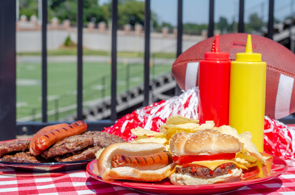 football-tailgate-food-ketchup-burger-park-place-finance