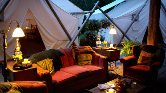 Glamping-tent-couches-coffee-table